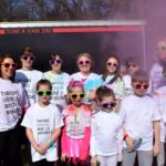 Team photo from the colour run