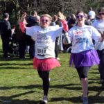 Alex and Kirsty finishing the run