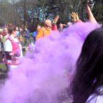 Purple paint cloud